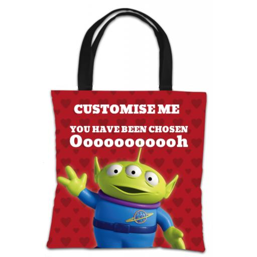 Disney Toy Story Valentines Alien You Have Been Chosen Tote Bag
