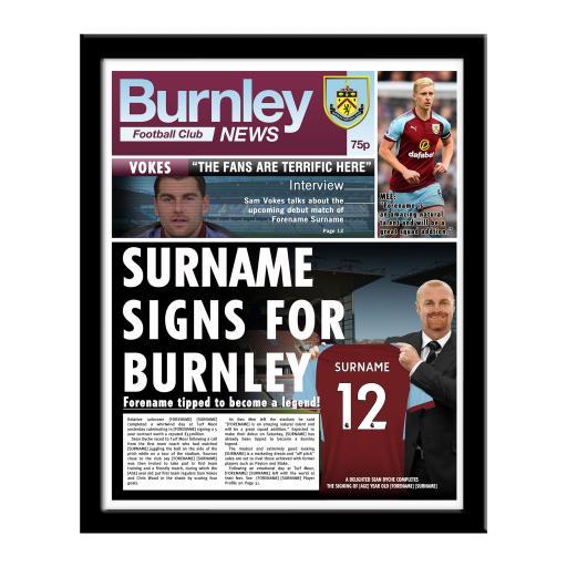 Burnley FC News Framed Print