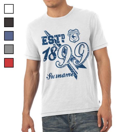 Cardiff City FC Mens Established T-Shirt
