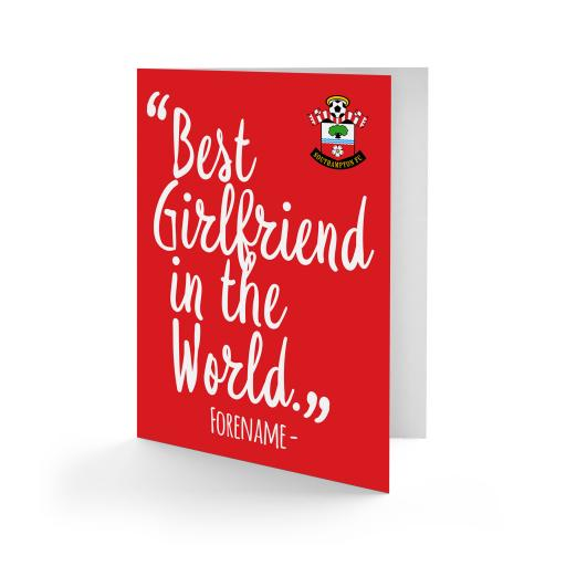Southampton FC Best Girlfriend In The World Card