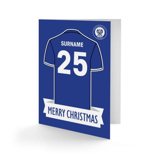 Rochdale AFC Shirt Christmas Card