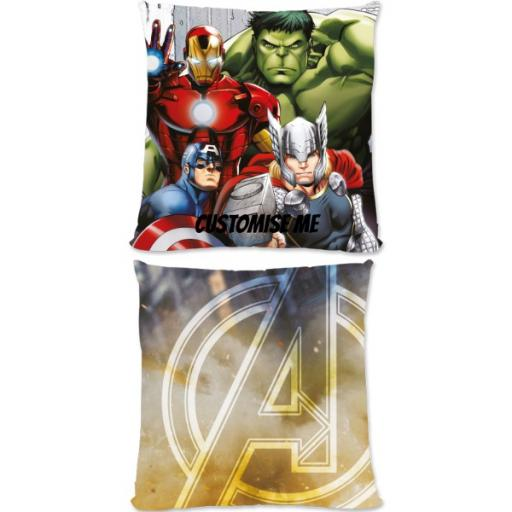 Marvel Avengers Assemble Group Scene Small Fiber Cushion