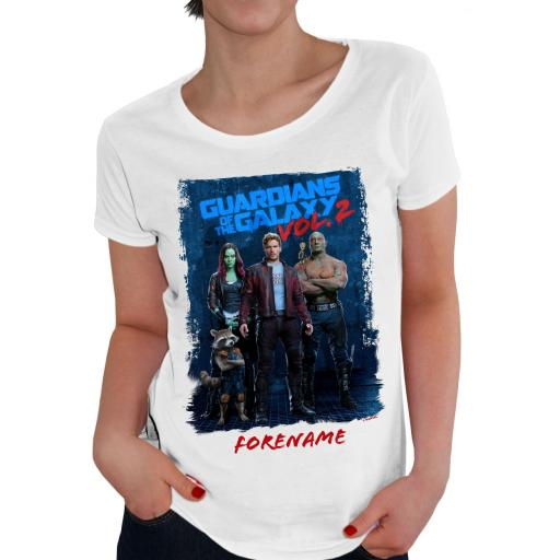 Marvel Guardians of the Galaxy Grunge Ladies T-Shirt