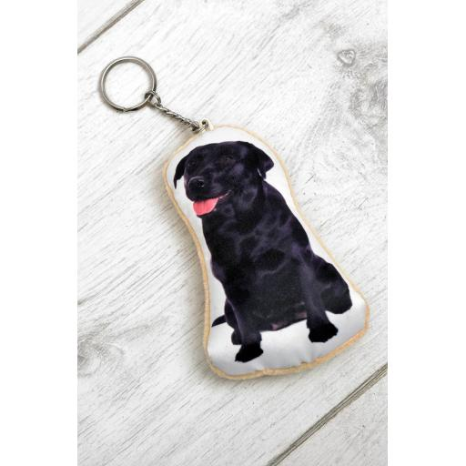 Labrador Shaped Image Key Ring