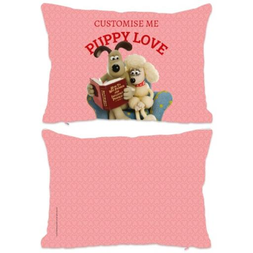 Aardman Wallace And Gromit Puppy Love Extra Large Fiber Cushion