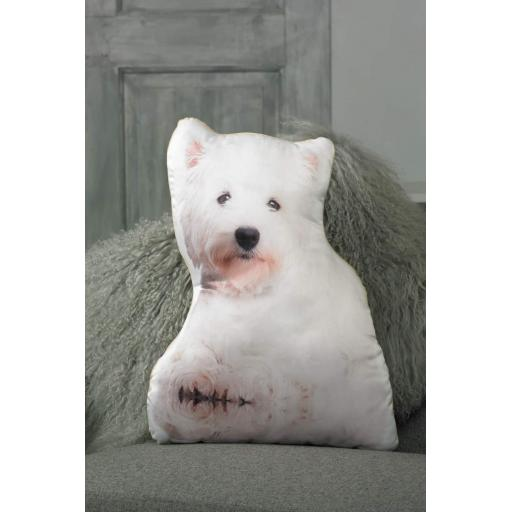 West Highland Terrier (Westie) Shaped Cushion Perfect Gift For Dog Lovers