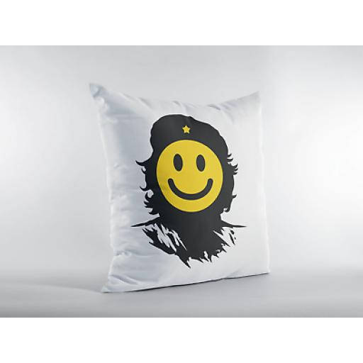 Che Smile Themed Cushion Cover - Decorative Smooth Linen - Gift