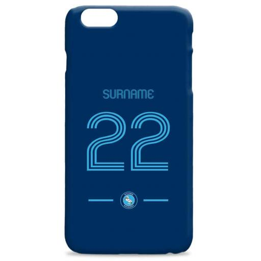 Wycombe Wanderers Retro Shirt Hard Back Phone Case
