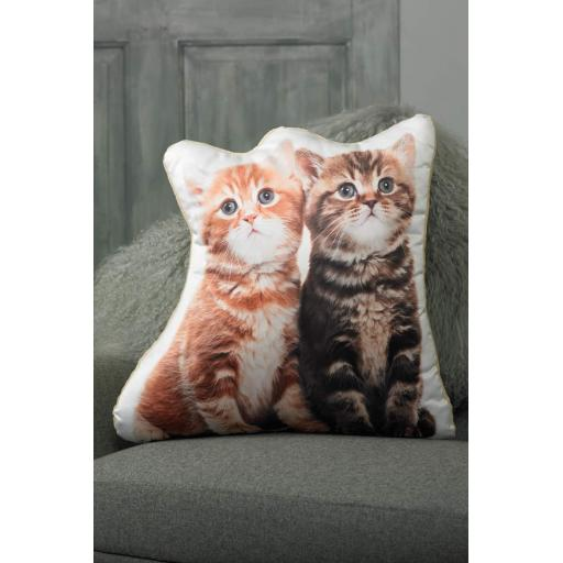 Kittens Shaped Cushion Perfect Gift For Cat Kitten Lovers