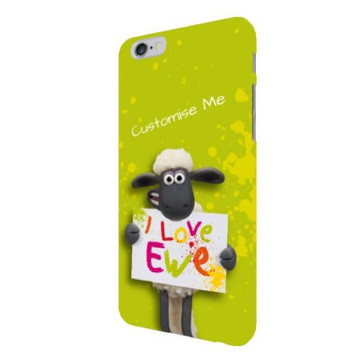 Aardman Shaun The Sheep Valentines Print iPhone 6/6s Clip Case