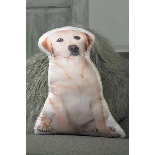 Yellow Labrador Shaped Cushion Perfect Gift For Dog Lovers