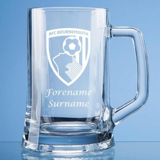 AFC Bournemouth Crest Large Plain Straight Sided Tankard