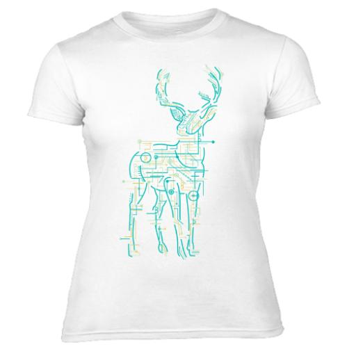 Electric Deer Women's T-Shirt