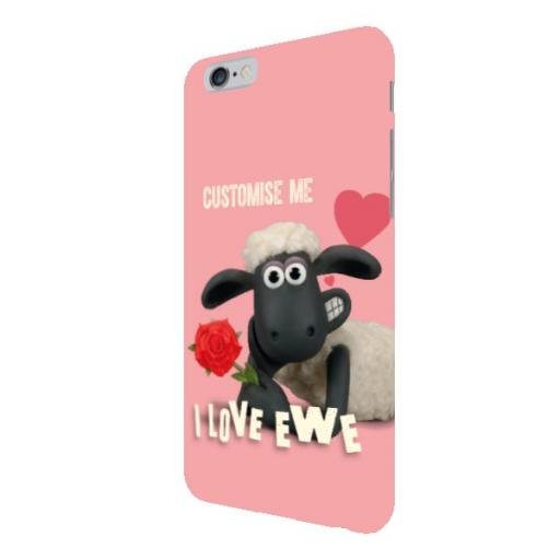Aardman Shaun The Sheep Valentines 'I Love Ewe' iPhone 6+/6s+ Clip Case