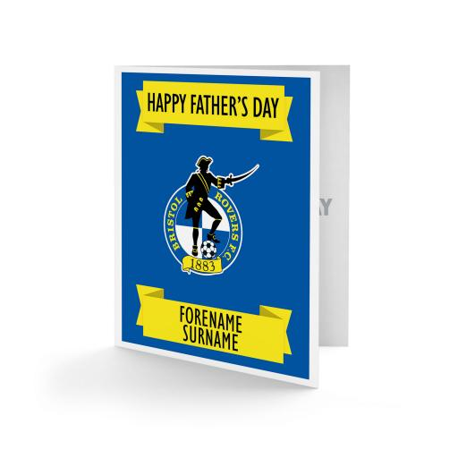 Bristol Rovers FC Crest Father's Day Card