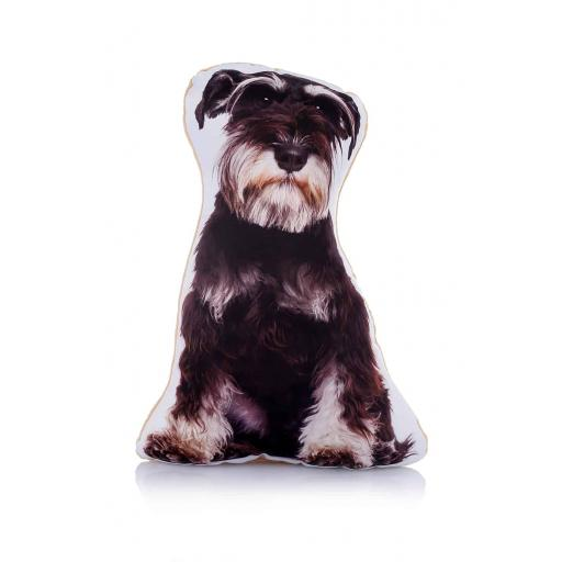 Black and Silver Schnauzer Midi Cushion Perfect For Dog Lovers