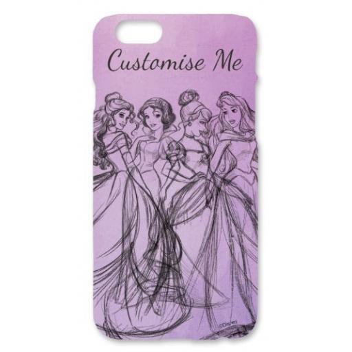 Disney Princess Group Watercolour iPhone 6/6S Clip Case