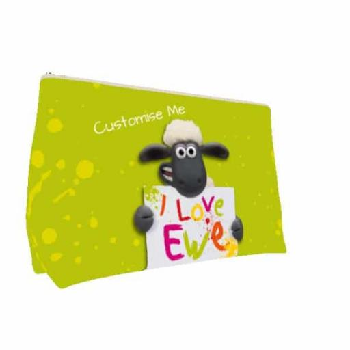 Aardman Shaun The Sheep Valentines Print Small Wash Bag