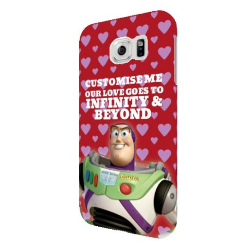 "Disney Toy Story Buzz Valentines ""Infinity & Beyond"" Samsung Galaxy S6 Clip Case"