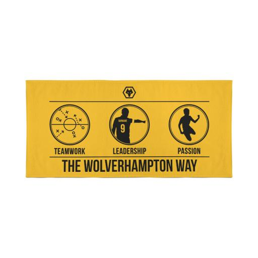 Wolves Way Travel Towel