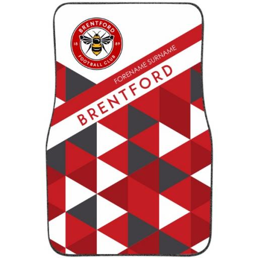 Brentford FC Patterned Front Car Mat