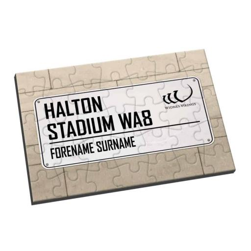 Widnes Vikings Street Sign Jigsaw