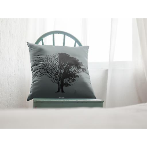 Life And Death Cushion Cover - Smooth Linen - Gift Climate Change Supporters