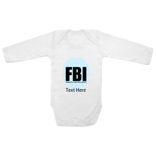 Fabulously Beautiful Infant White Longsleeve Baby Grow