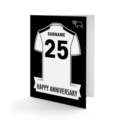 Derby County Shirt Anniversary Card