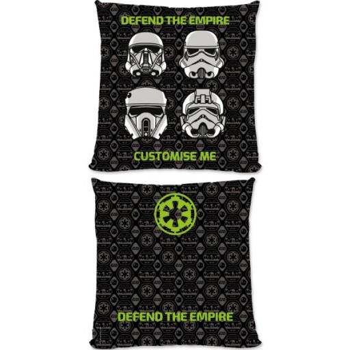 """Star Wars Rogue One """"Defend The Empire"""" Large Fibre Cushion"""