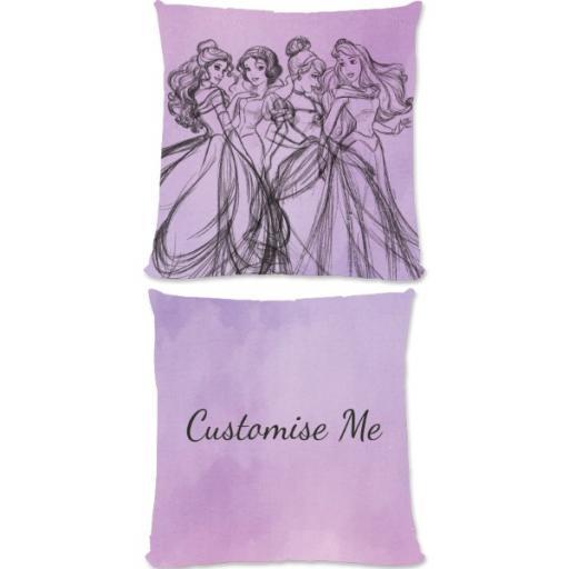 Disney Princess Group Watercolour Small Fiber Cushion