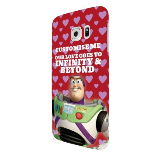 "Disney Toy Story Buzz Valentines ""Infinity & Beyond"" Samsung Galaxy S7 Edge Clip Case"