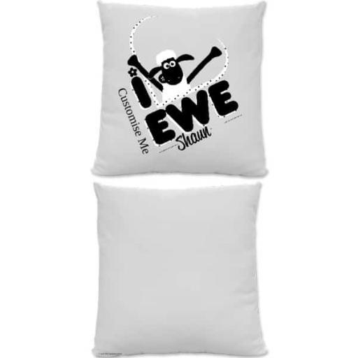 Aardman Shaun The Sheep 'I Love Ewe' Square Cushion