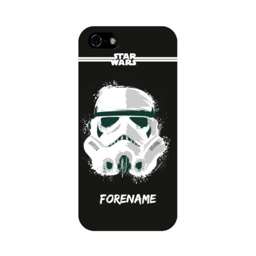 Storm Trooper Paint iPhone 5/S/SE Case