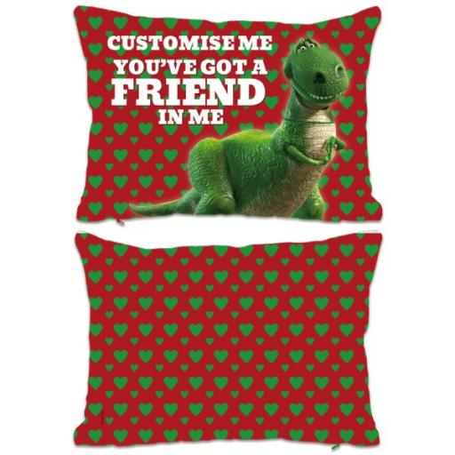 "Disney Toy Story Rex Valentines ""You Gotta Friend In Me"" Extra Large Fiber Cushion"