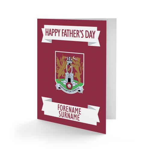 Northampton Town FC Crest Father's Day Card