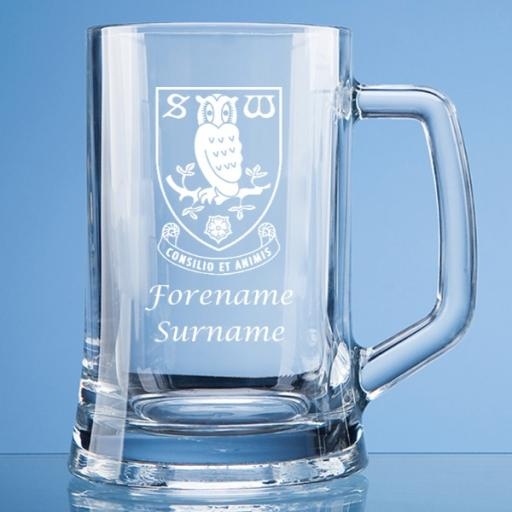 Sheffield Wednesday FC Crest Large Plain Straight Sided Tankard
