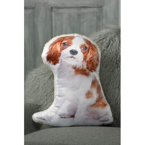 Blenheim King Charles Cavalier Shaped Cushion Perfect Gift For Dog Lovers