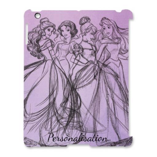 Disney Princess Group Watercolour iPad 2/3/4 Clip Case