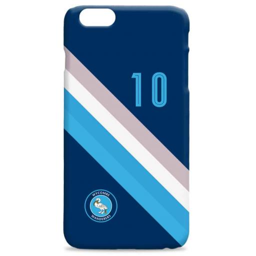 Wycombe Wanderers Stripe Hard Back Phone Case
