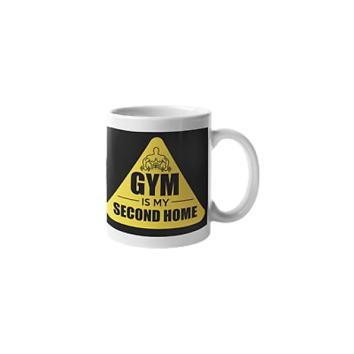 Gym My Second Home 11 oz Mug Ceramic Novelty Design Gift For Fitness Lovers