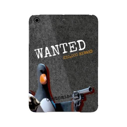 "Aardman Wallace And Gromit Feathers ""Wanted"" iPad Mini 2/3 Clip Case"