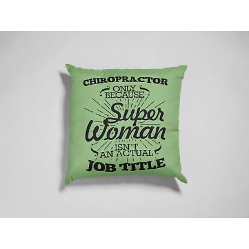 Chiropractor Super Woman Cushion Cover- Decorative Linen- Inspired Funny Gift
