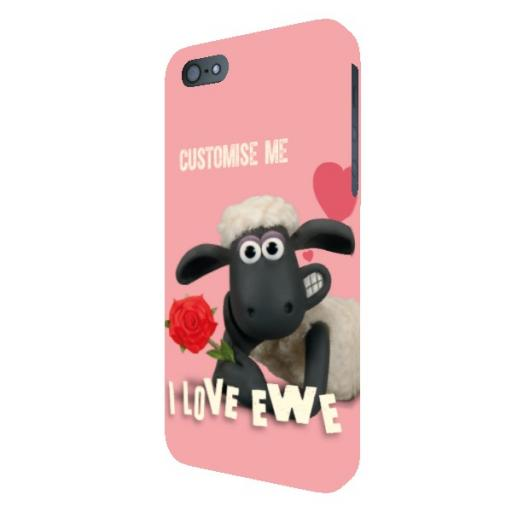 Aardman Shaun The Sheep Valentines 'I Love Ewe' iPhone 5/5s/5SE Clip Case