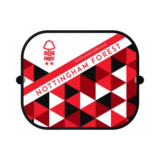Nottingham Forest FC Patterned Car Sunshade