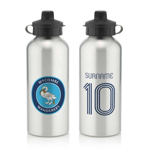 Wycombe Wanderers Retro Shirt Water Bottle