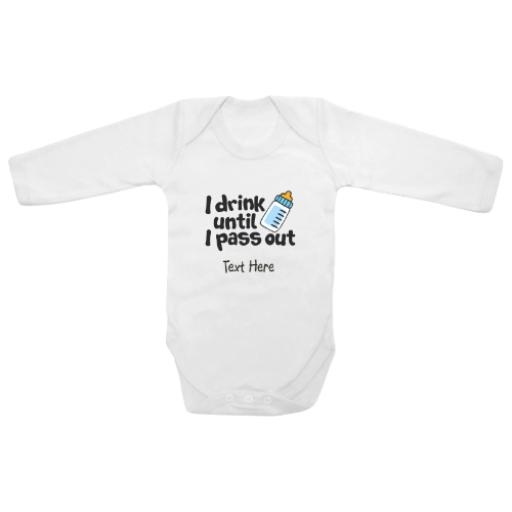 My Half Birthday Crown White Longsleeve Baby Grow