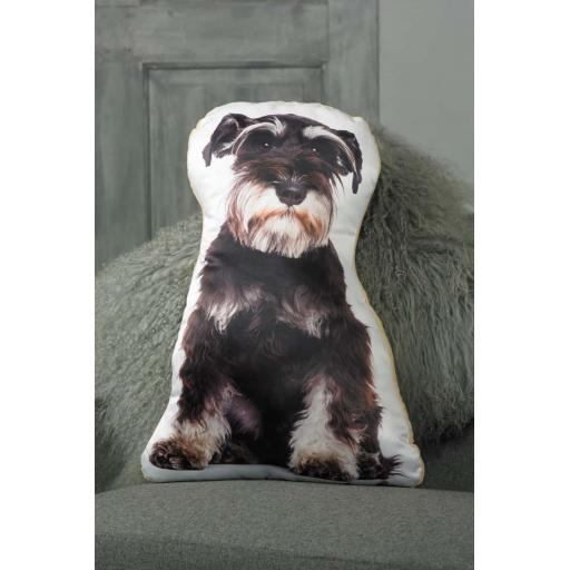 Black and White Schnauzer Shaped Cushion Perfect Gift For Dog Lovers