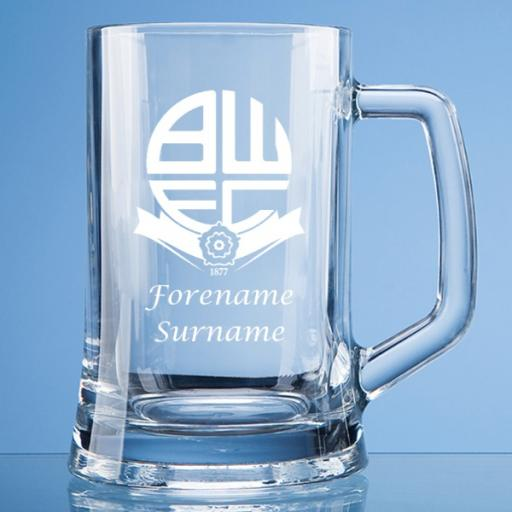 Bolton Wanderers FC Crest Large Plain Straight Sided Tankard