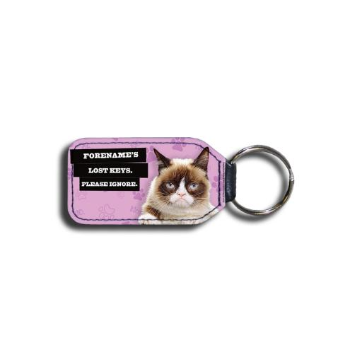 Grumpy Cat - Lost Keys Pink Key Ring